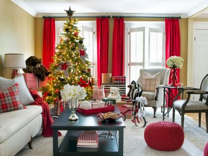 60 Creative Farmhouse Christmas Decorating Ideas And Makeover (1)