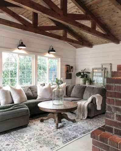 70 Modern Farmhouse Living Room Decor Ideas And Makeover (35)