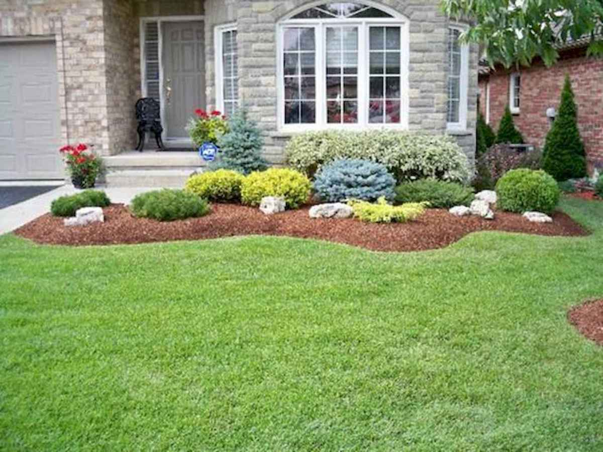 90 Simple and Beautiful Front Yard Landscaping Ideas on A Budget (37)