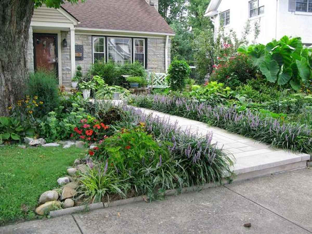 90 Simple and Beautiful Front Yard Landscaping Ideas on A Budget (76)