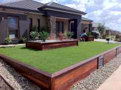 90 Simple and Beautiful Front Yard Landscaping Ideas on A Budget (87)