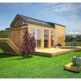 40 Stunning Log Cabin Homes Plans One Story Design Ideas (16)