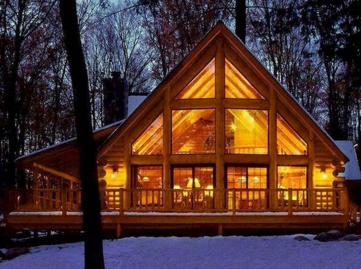 40 Stunning Log Cabin Homes Plans One Story Design Ideas (22)