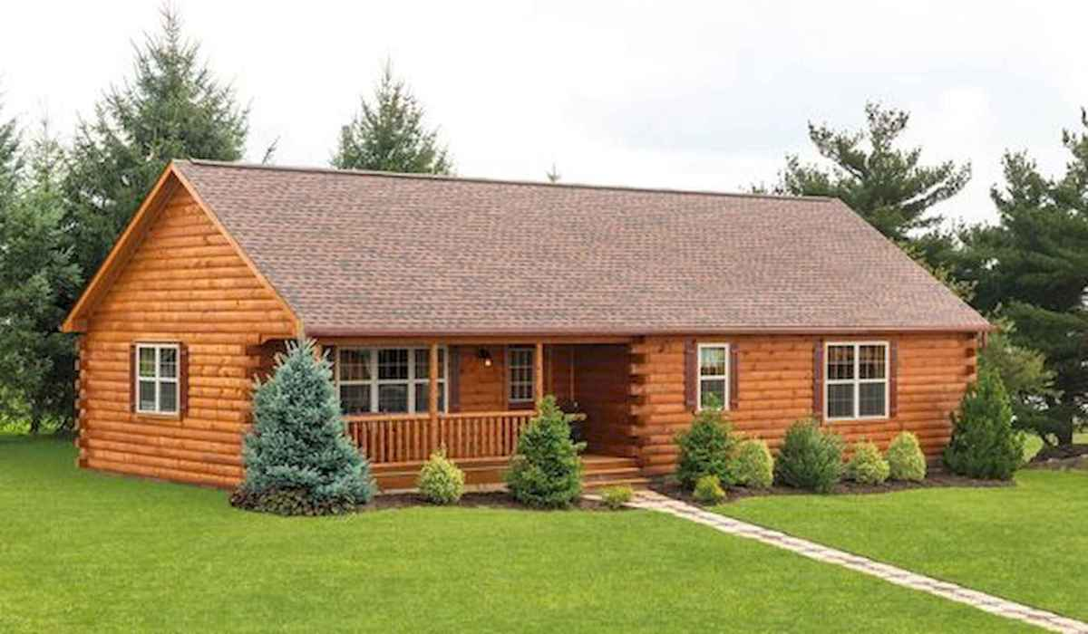 40 Stunning Log Cabin Homes Plans One Story Design Ideas (3)