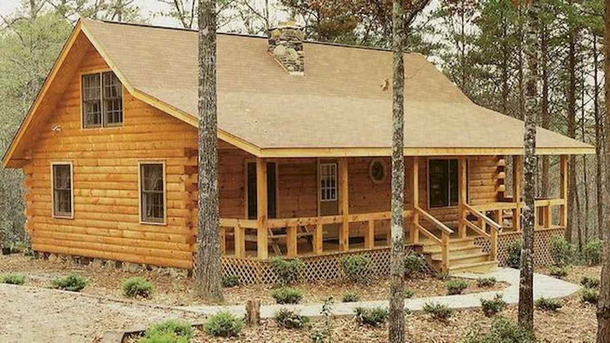 40 Stunning Log Cabin Homes Plans One Story Design Ideas (32)