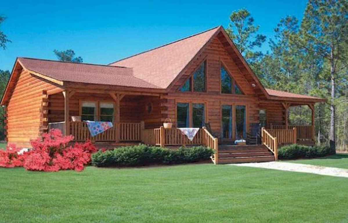 40 Stunning Log Cabin Homes Plans One Story Design Ideas (37)