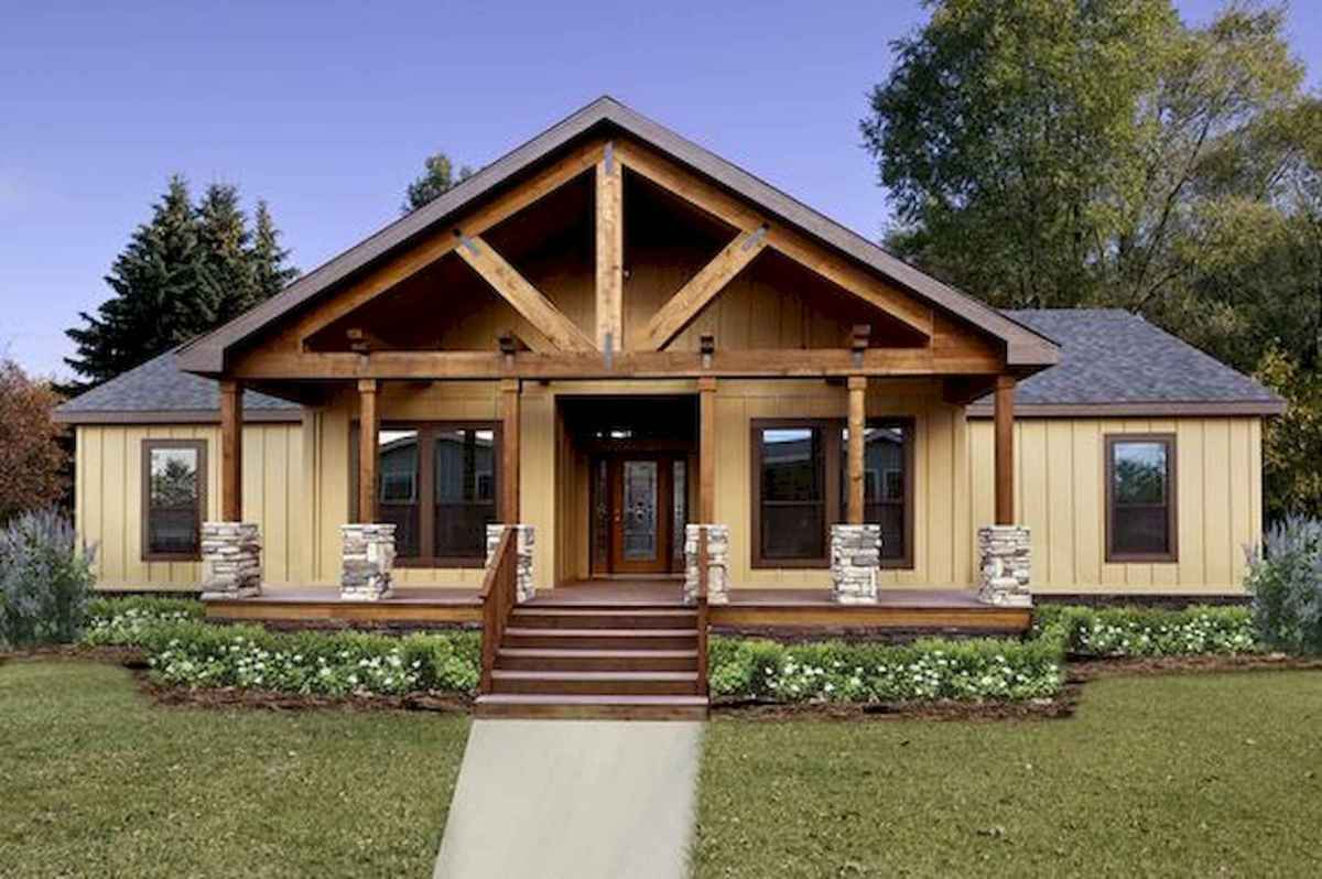 40 Stunning Log Cabin Homes Plans One Story Design Ideas (41)