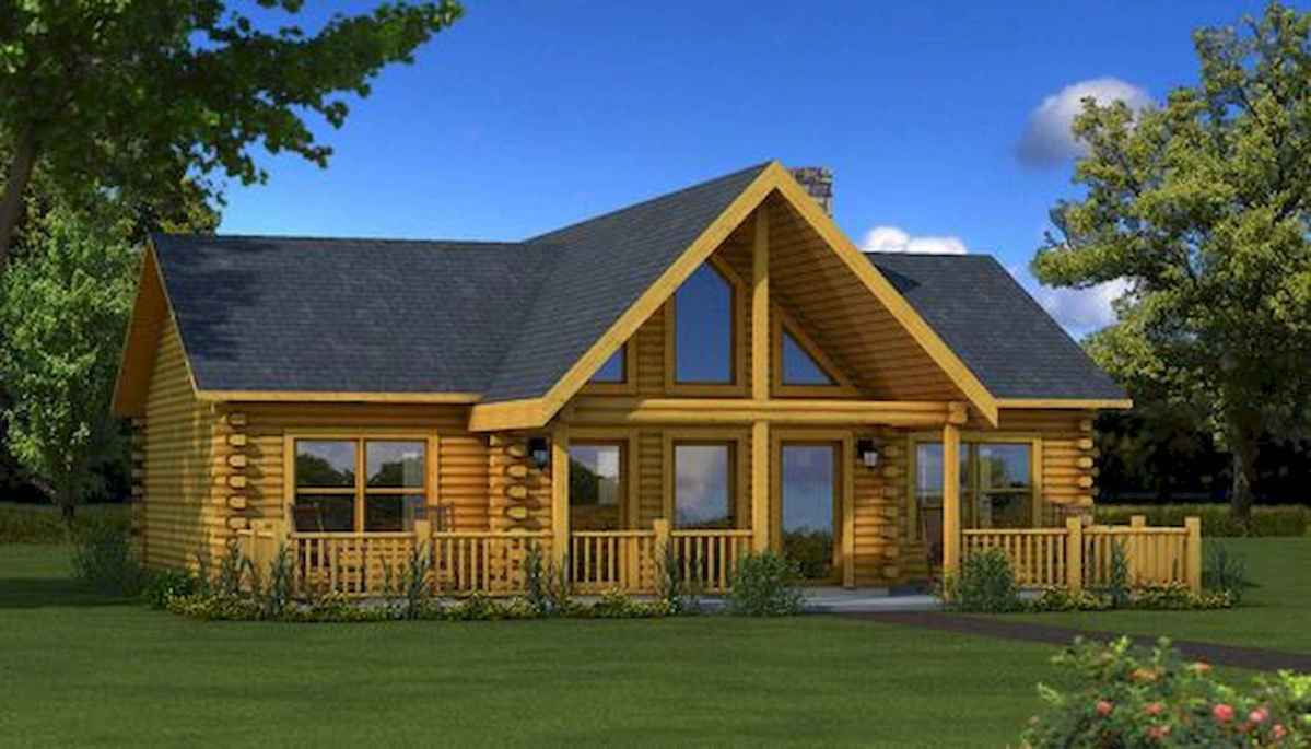 40 Stunning Log Cabin Homes Plans One Story Design Ideas (7)