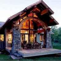 50 Incredible Log Cabin Homes Modern Design Ideas (15)