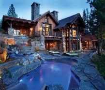 50 Incredible Log Cabin Homes Modern Design Ideas (21)