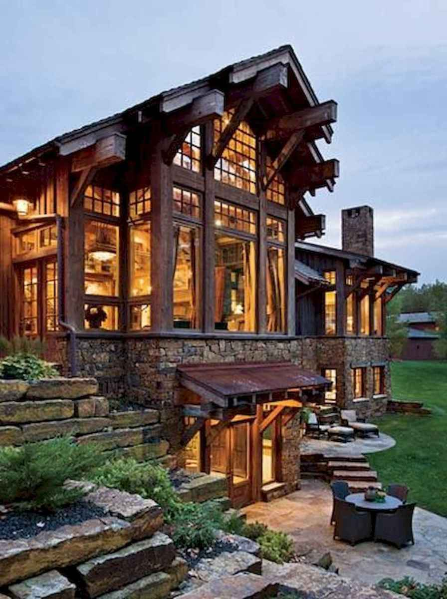 50 Incredible Log Cabin Homes Modern Design Ideas (26)