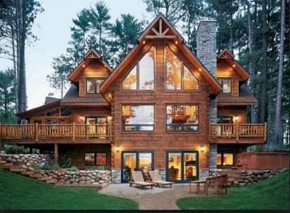 50 Incredible Log Cabin Homes Modern Design Ideas (45)
