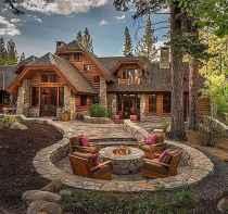 50 Incredible Log Cabin Homes Modern Design Ideas (9)