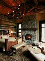 60 Awesome Log Cabin Homes Fireplace Design Ideas (10)