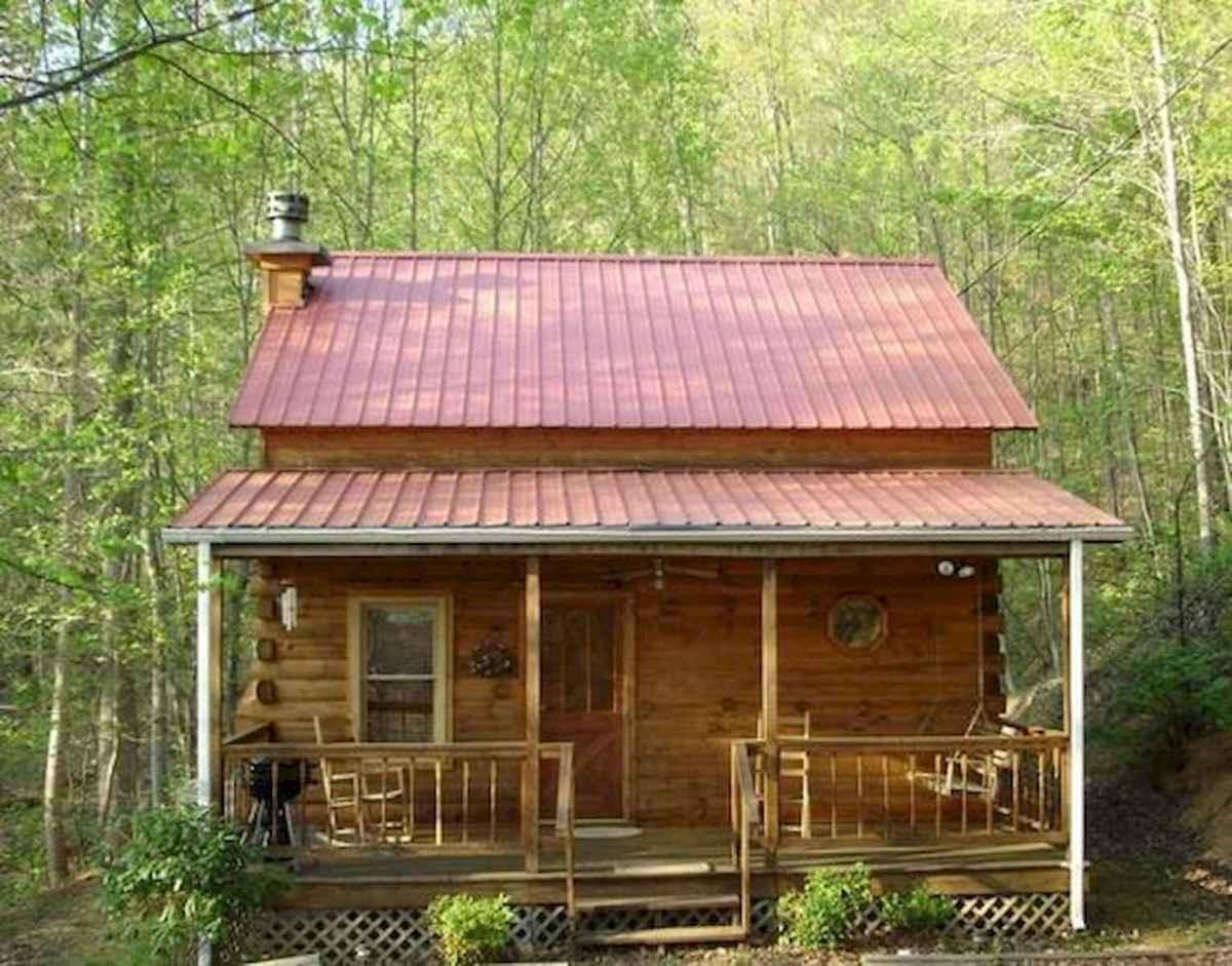 70 Suprising Small Log Cabin Homes Design Ideas (10)