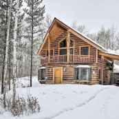 70 Suprising Small Log Cabin Homes Design Ideas (11)