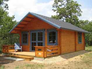 70 Suprising Small Log Cabin Homes Design Ideas (14)