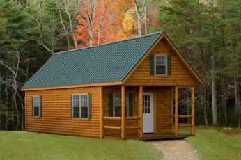 70 Suprising Small Log Cabin Homes Design Ideas (19)