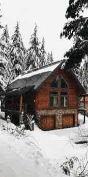 70 Suprising Small Log Cabin Homes Design Ideas (40)