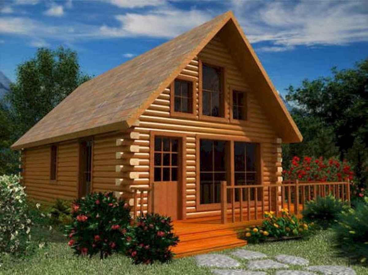 70 Suprising Small Log Cabin Homes Design Ideas (44)
