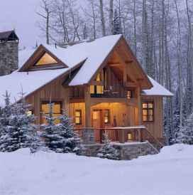 70 Suprising Small Log Cabin Homes Design Ideas (46)