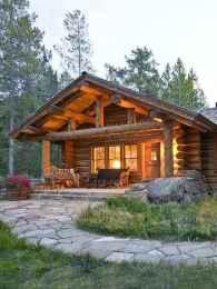 70 Suprising Small Log Cabin Homes Design Ideas (52)