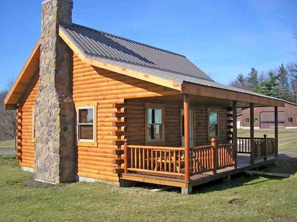 70 Suprising Small Log Cabin Homes Design Ideas (62)