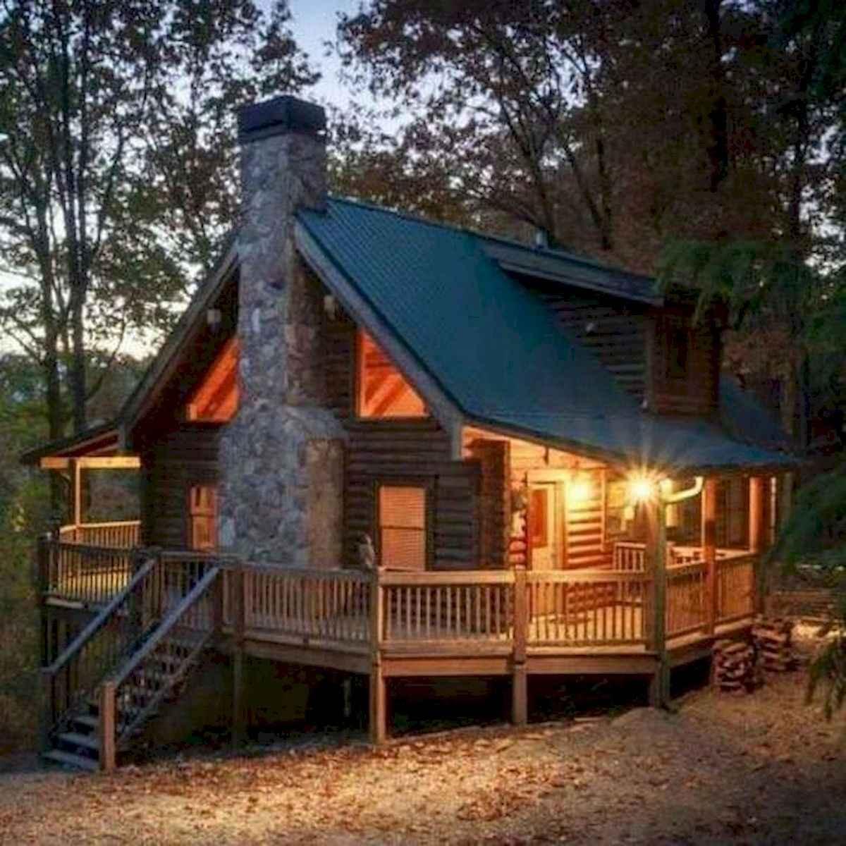 70 Suprising Small Log Cabin Homes Design Ideas (8)