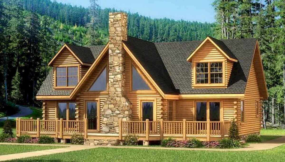 75 Great Log Cabin Homes Plans Design Ideas (15)