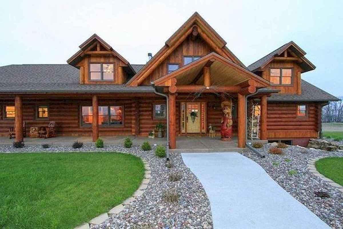 75 Great Log Cabin Homes Plans Design Ideas (18)