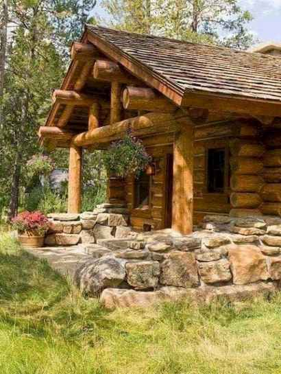 75 Great Log Cabin Homes Plans Design Ideas (19)