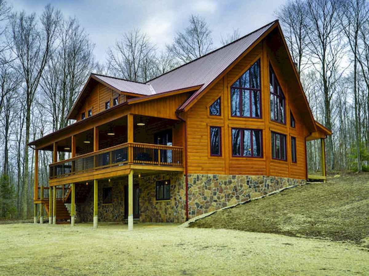 75 Great Log Cabin Homes Plans Design Ideas (22)