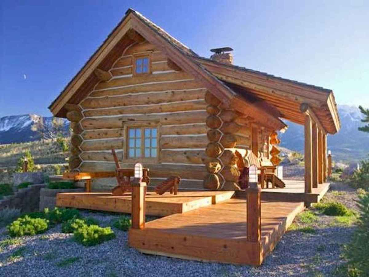 75 Great Log Cabin Homes Plans Design Ideas (60)