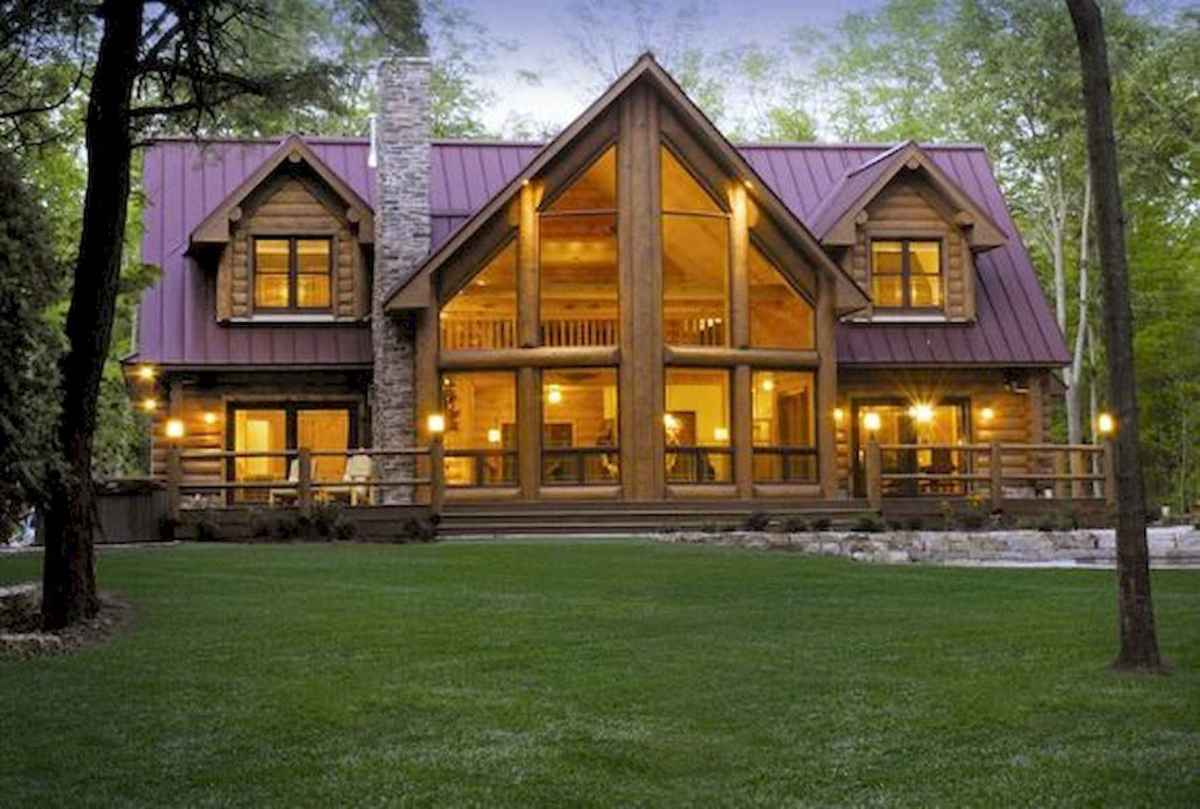 75 Great Log Cabin Homes Plans Design Ideas (73)