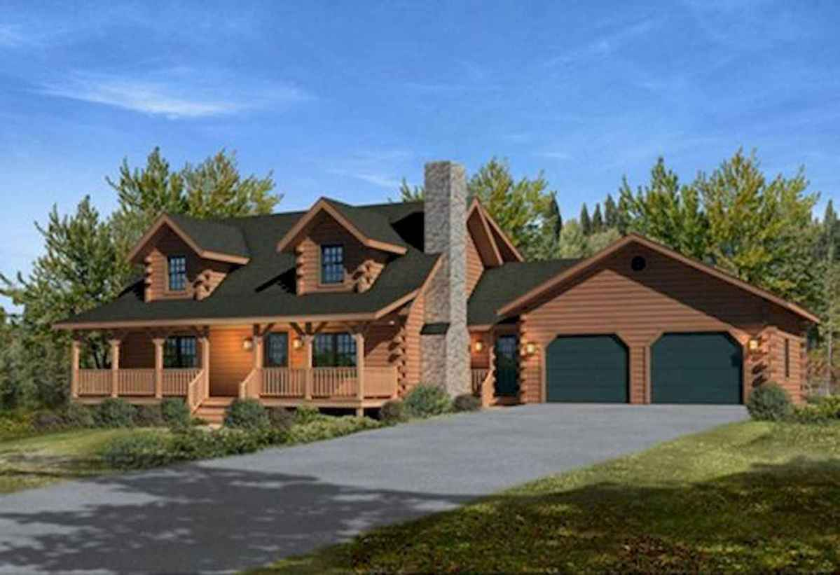 75 Great Log Cabin Homes Plans Design Ideas (8)