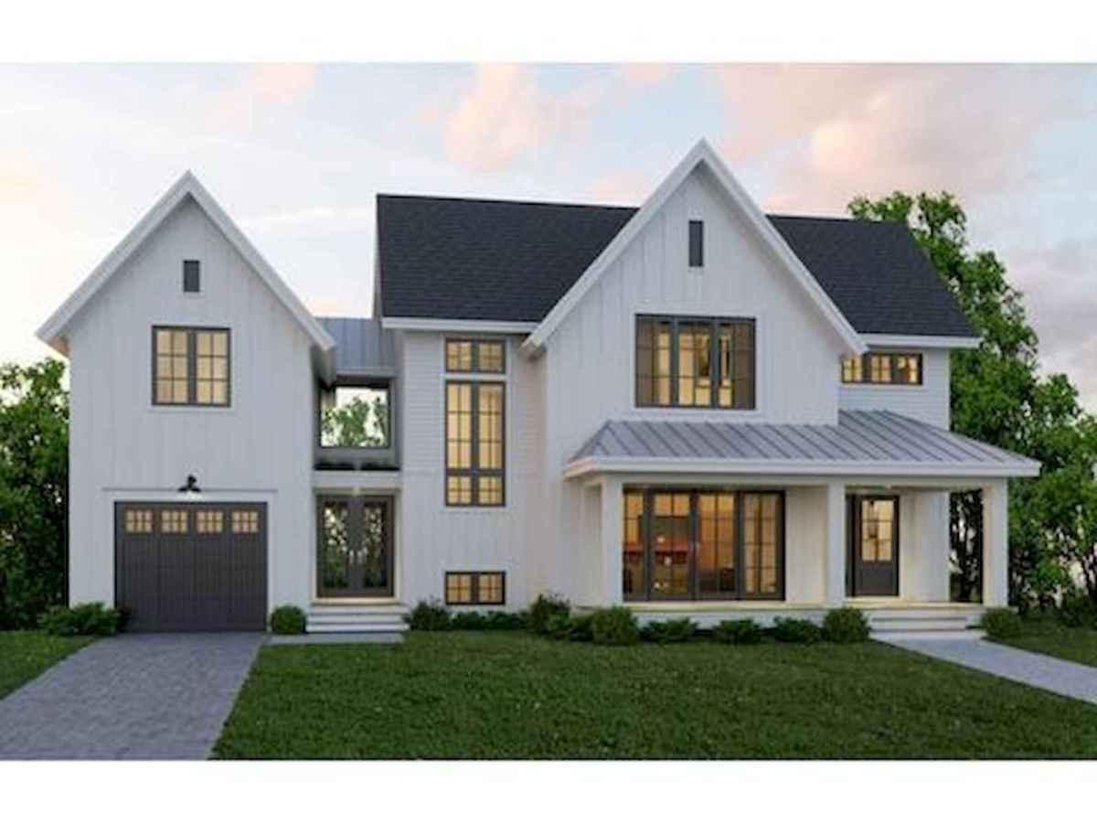 40 Stunning White Farmhouse Exterior Design Ideas (6)