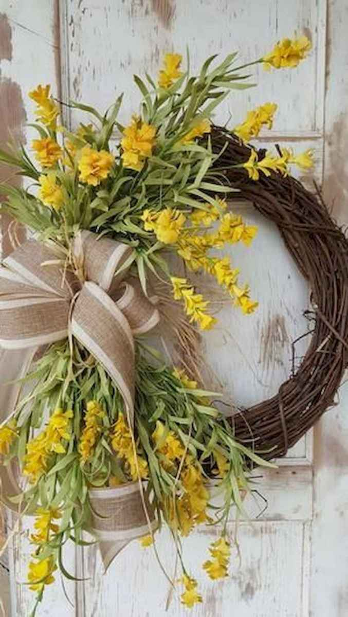 60 Favorite Spring Wreaths for Front Door Design Ideas And Decor (61)
