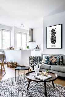 50+ Beautiful Small Living Room Decor Ideas And Remodel for Your First Apartment (20)