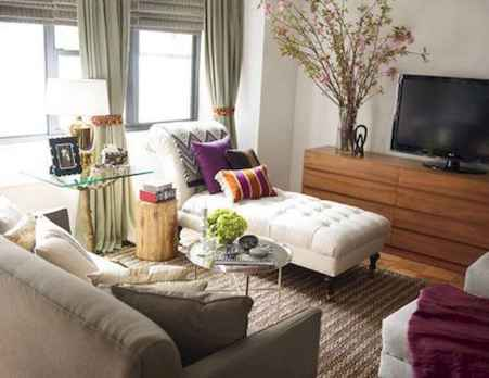 50+ Beautiful Small Living Room Decor Ideas And Remodel for Your First Apartment (41)