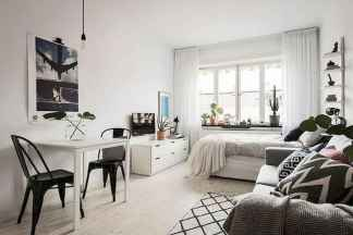 50+ Stunning Minimalist Studio Apartment Small Spaces Decor Ideas And Remodel (10)