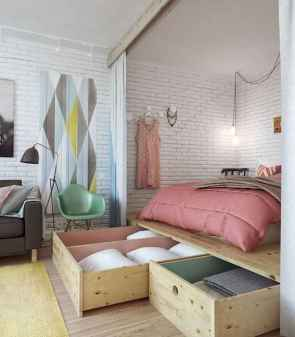 50+ Stunning Minimalist Studio Apartment Small Spaces Decor Ideas And Remodel (16)