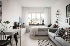 50+ Stunning Minimalist Studio Apartment Small Spaces Decor Ideas And Remodel (21)
