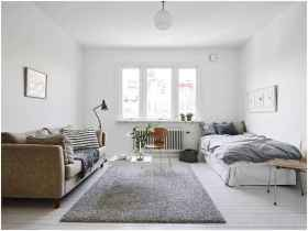 50+ Stunning Minimalist Studio Apartment Small Spaces Decor Ideas And Remodel (22)