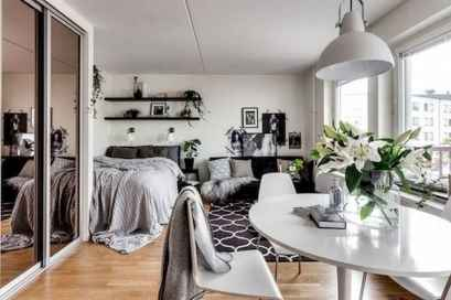 50+ Stunning Minimalist Studio Apartment Small Spaces Decor Ideas And Remodel (40)