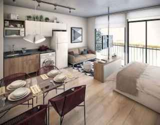50+ Stunning Minimalist Studio Apartment Small Spaces Decor Ideas And Remodel (44)