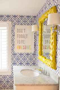 70+ Fantastic Colorful Bathroom Decor Ideas And Remodel for Summer Project (25)