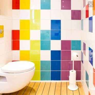 70+ Fantastic Colorful Bathroom Decor Ideas And Remodel for Summer Project (56)