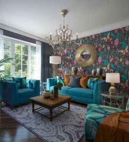 80+ Awesome Colorful Living Room Decor Ideas And Remodel for Summer Project (45)