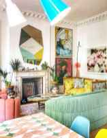 80+ Awesome Colorful Living Room Decor Ideas And Remodel for Summer Project (75)