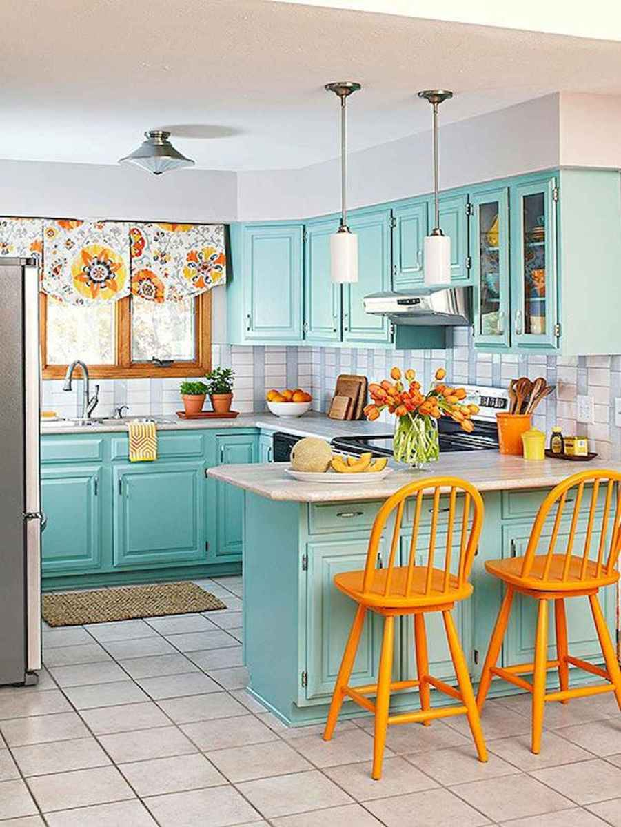 80+ Fantastic Colorful Kitchen Decor Ideas And Remodel for Summer Project (18)